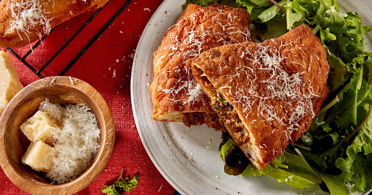 Beef Calzone recipe featuring Laura's Lean ground beef