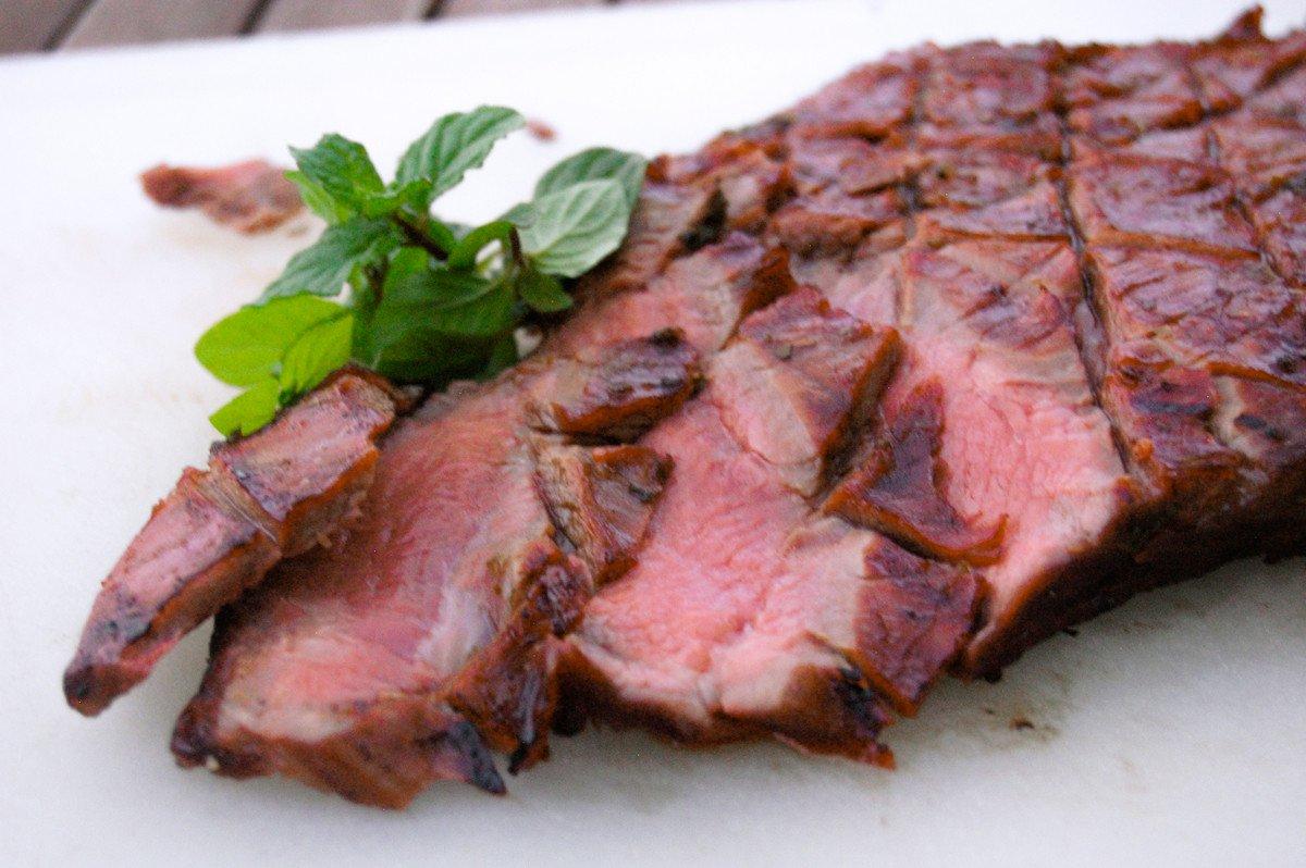 Derby Flank Steak sliced