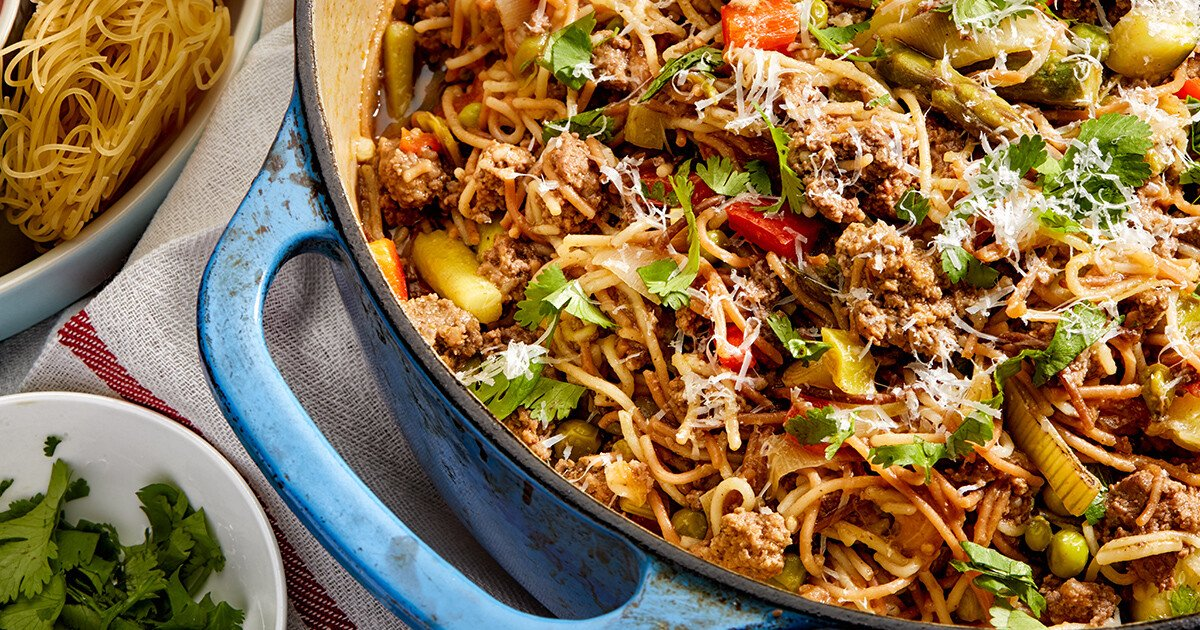 Spring Vegetable Fideo recipe