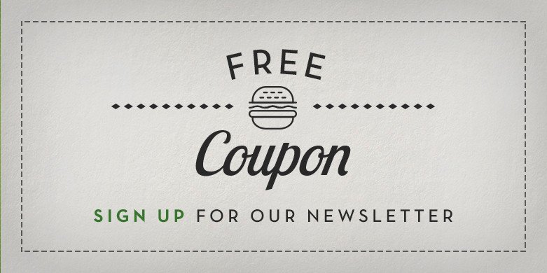 Sign Up and Receive a Free Coupon