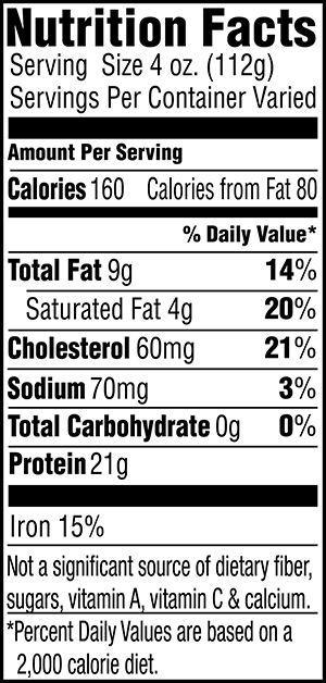 92% Lean Ground Beef Nutrition Facts