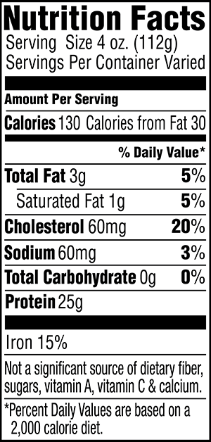 Stew and London Broil Nutrition Facts