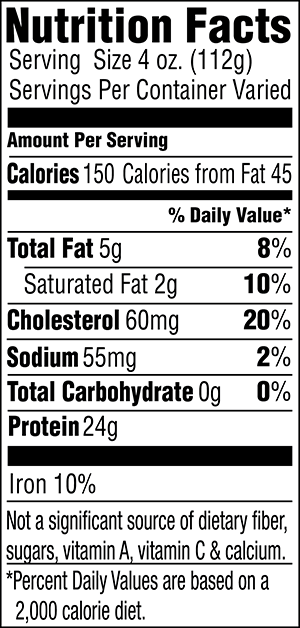 Tenderloin Nutrition Facts