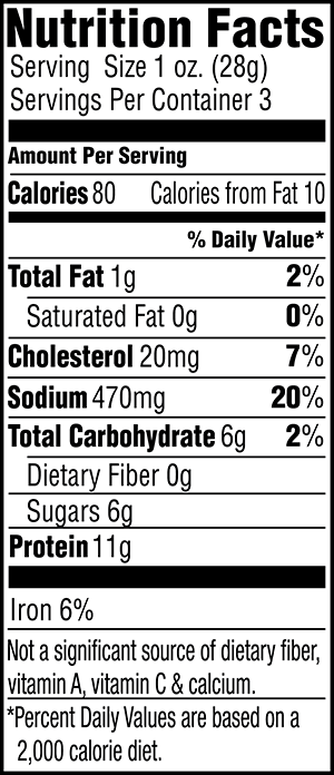 Original Beef Jerky Nutrition Facts