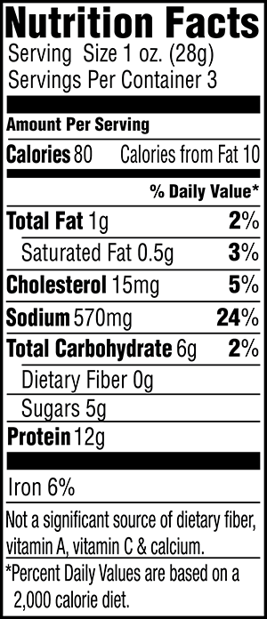 Teriyaki Beef Jerky Nutrition Facts