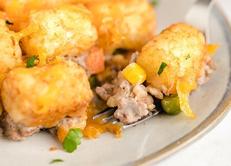 Crispy Potato Round Casserole