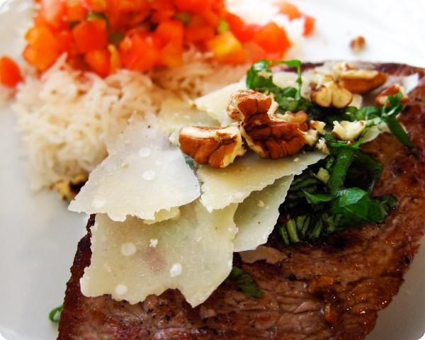 Deconstructed Pesto Sirloin Steak