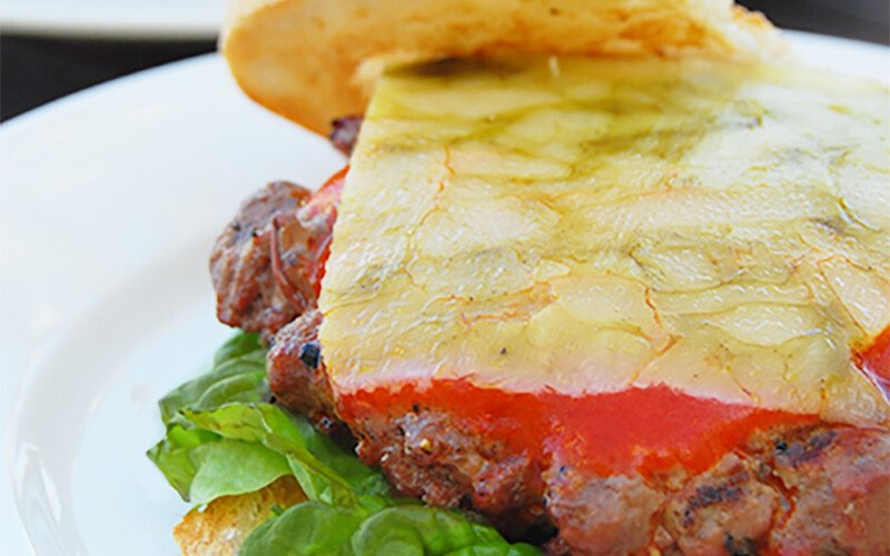 Derby Cheeseburger with Sage Cheese