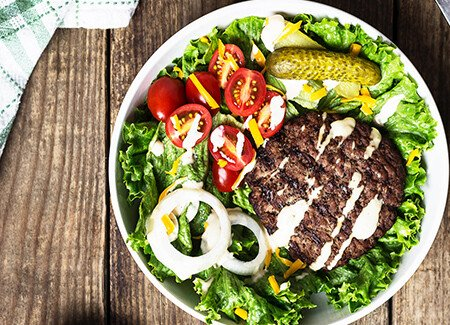 Grilled Burger Bowl