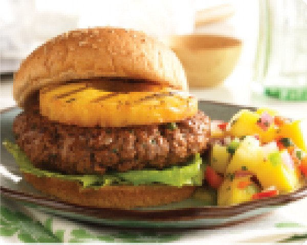 Island Burger with Fruit Salsa