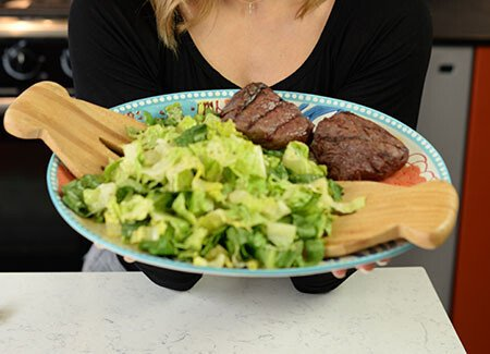 Jen Widerstrom's Grilled Steak and Caesar Salad