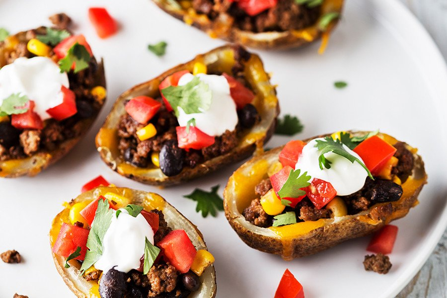 Laura's Southwest Loaded Potato Skins