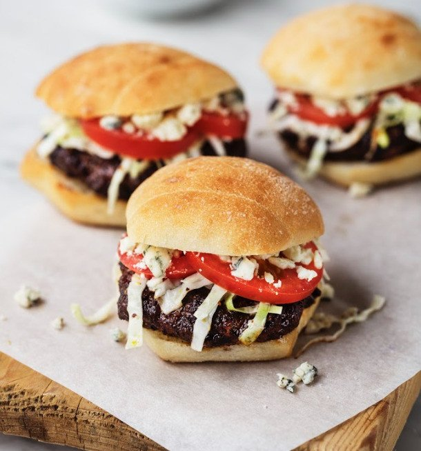 Laura's Black & Blue Sliders