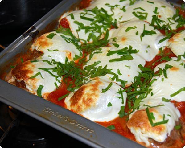 Meatballs and Eggplant with Fresh Mozzarella