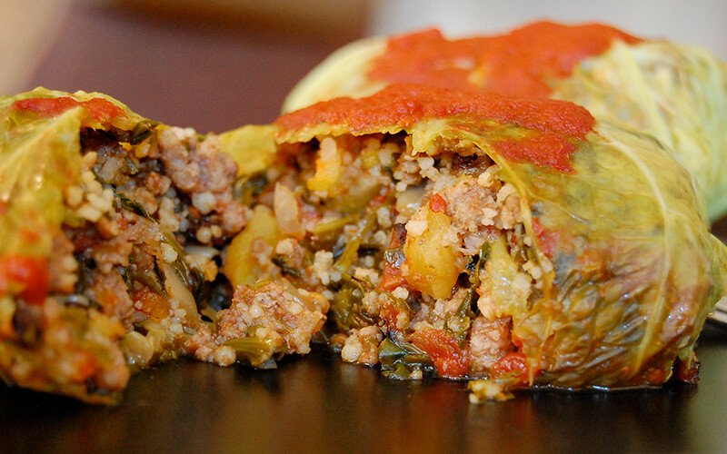 Moroccan-Spiced Stuffed Cabbage