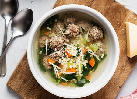 Italian Wedding Soup for Two