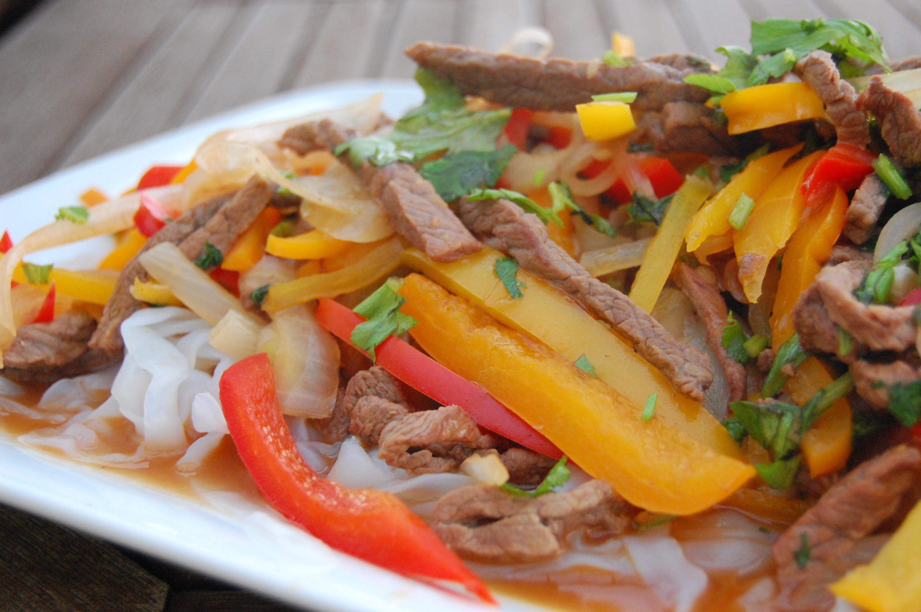 Stir-fry of Sirloin with Shirataki Noodles