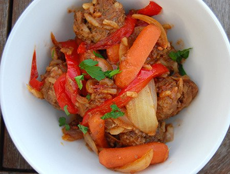 Sweet and Sour Porcupine Meatballs
